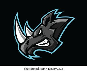 Angry Rhino esport logo template