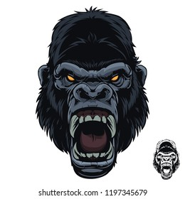 Angry Screaming Scream Gorilla
