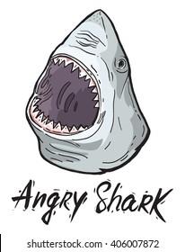 angry shark head phrase object