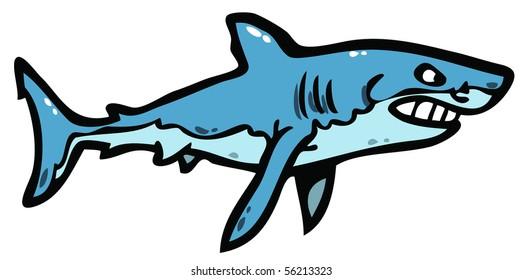Angry shark illustration