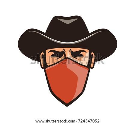 fa20061113ae3 Angry Thug Mask Cowboy Robber Bandit Stock Vector (Royalty Free ...