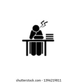 Angry, tired, student icon. Element of education pictogram icon. Premium quality graphic design icon. Signs and symbols collection icon for websites, web design