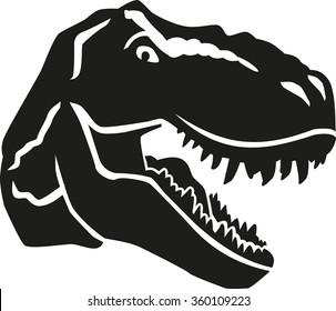 dinosaur head images  stock photos   vectors shutterstock Dinosaur Print Clip Art cute dinosaur clip art free