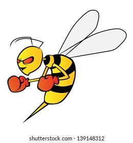 angry wasp boxing