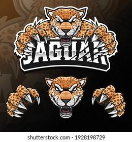 angry wild animal jaguar isolated esport logo illustration