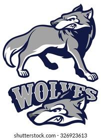 angry wolf mascot