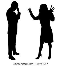 angry woman screaming at man