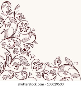 Angular floral pattern