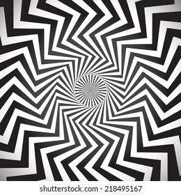 Angular spiral background. whirlpool, hypnotism, rays, rotation, abstract, whirl, whorl, swirl background