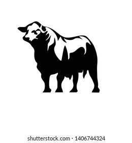 angus cow design logo icon