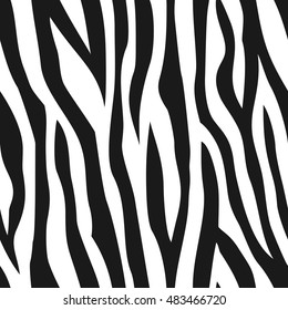Animal abstract monochrome seamless pattern. Vector.