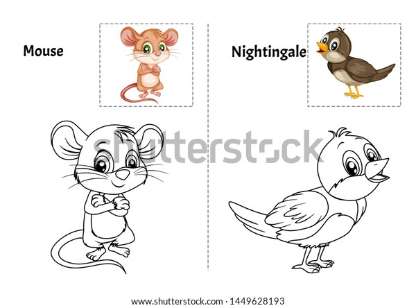- Animal Alphabet Coloring Book Preschool Kids Stock Vector (Royalty Free)  1449628193