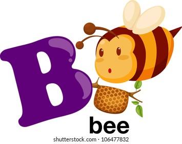 Animal alphabet letter - B