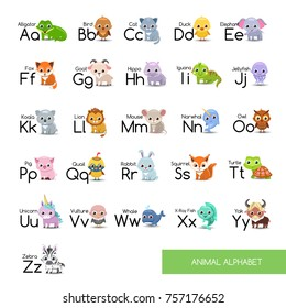 Animal alphabet set