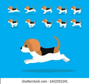 Animal Animation Sequence Dog Beagle Cartoon Vector