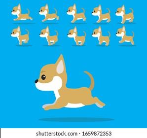 Animal Animation Sequence Dog Chihuahua Cartoon Vector