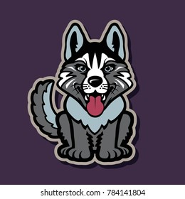 animal, arctic, art, background, cute, dog, face, fantasy, fashion, funny, futuristic, husky, illustration, malamute, north, object, old, pet, polar, portrait, poster, protection, puppy, style, vector