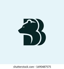 Animal Bear Logo Vector Design Template