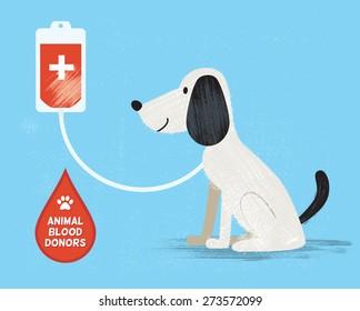 Animal blood donor. Vector illustration. Eps10