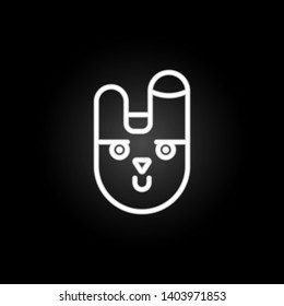 animal, bunny face, rabbit neon icon. Elements of easter day set. Simple icon for websites, web design, mobile app, info graphics