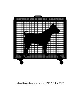 Animal cage silhouette vector