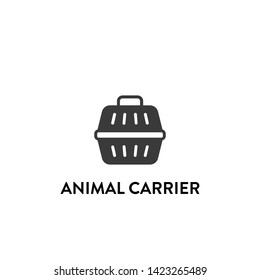 animal carrier icon vector. animal carrier vector graphic illustration