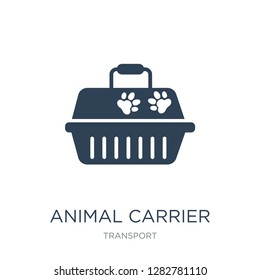 animal carrier icon vector on white background, animal carrier trendy filled icons from Transport collection, animal carrier vector illustration