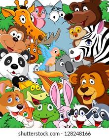 Animal cartoon background