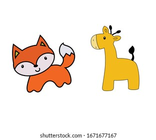 Animal cartoon for print commercial use