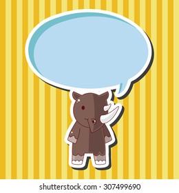animal cartoon theme elements