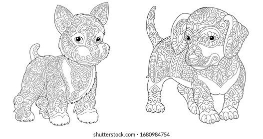 Dog Coloring Page Images, Stock Photos & Vectors Shutterstock