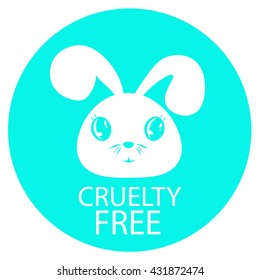 Animal cruelty free icon design.