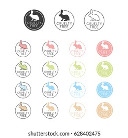 Animal cruelty free symbol. Can be used as sticker, logo, stamp, icon. Vector illustration