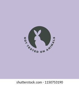Animal cruelty free symbol. Rabbit icon can be used as a sticker, logo, stamp, icon.