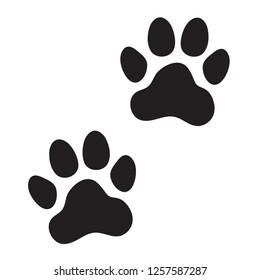Animal (dog, cat) paw prints. Icon. Vector illustration.