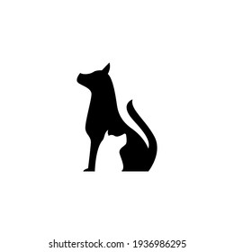 animal and dog cat vector silhouette graphic template