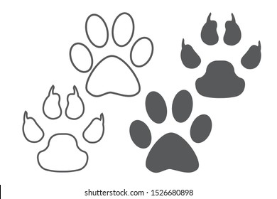Wildcat Paw Print Images Stock Photos Vectors Shutterstock Paw print, paw prints, heart, cute, pink. https www shutterstock com image vector animal dog paw print set different 1526680898