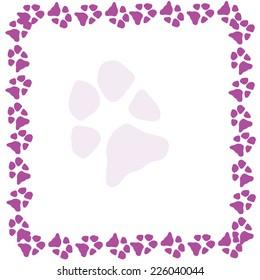 animal dog paw print. vector illustration