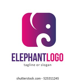 ANIMAL ELEPHANT LOGO ICON SYMBOL EMBLEM TEMPLATE