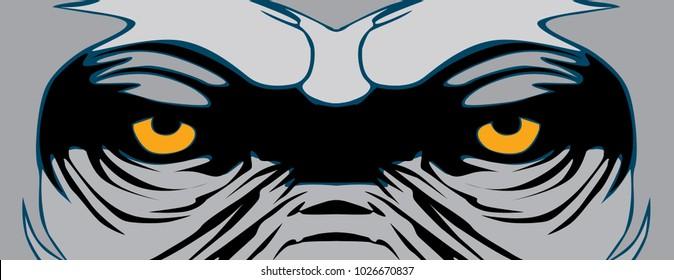 animal eye vector gorilla