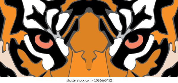 animal eye vector tiger