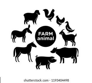 animal farm pack logo icon designs vector