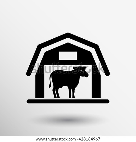 Animal Farm Vector Illustration Cow Farming Stock Vector Royalty