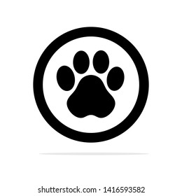 Animal feet icon. Vector concept illustration for design.