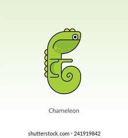 Animal Flashcard Collection - Chameleon