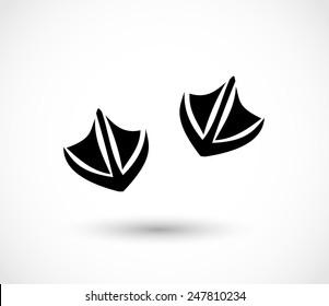 Animal footprint -duck vector