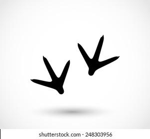 Animal footprint -hen vector