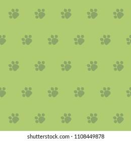 Animal footprint, seamless pattern