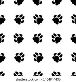 Animal footprint seamless pattern. Background. Abstract geometric shape texture. Design template for wallpapers, wrapping, textile. Vector Illustration