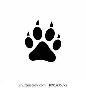 Animal footprint vector icon on a white background